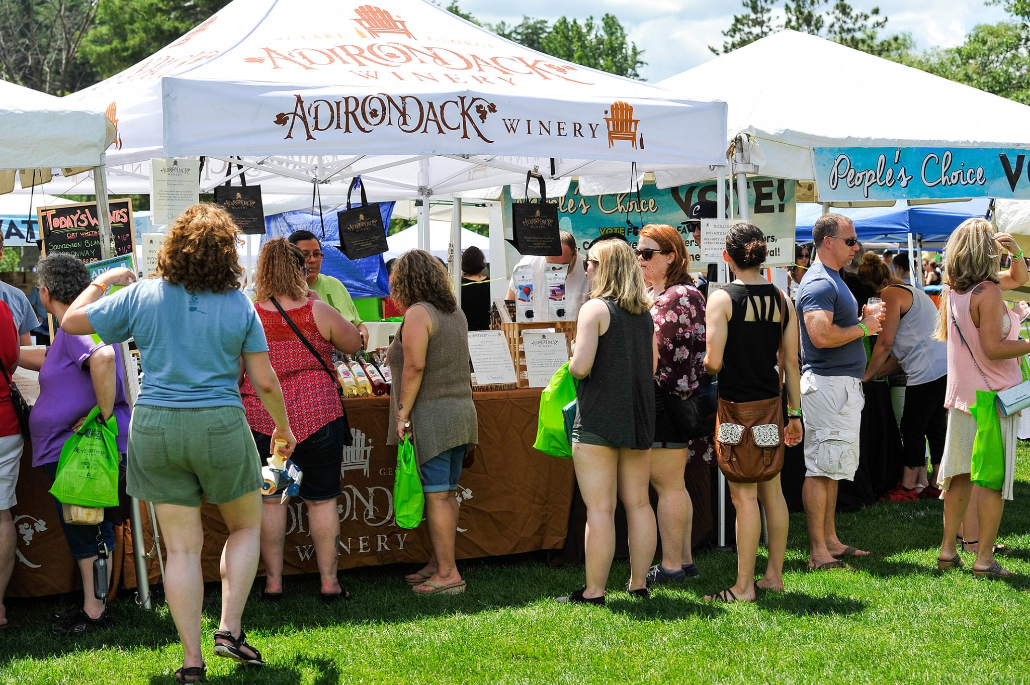 Presenting Sponsor, Adirondack Winery, pours a selection of their popular wines all weekend long