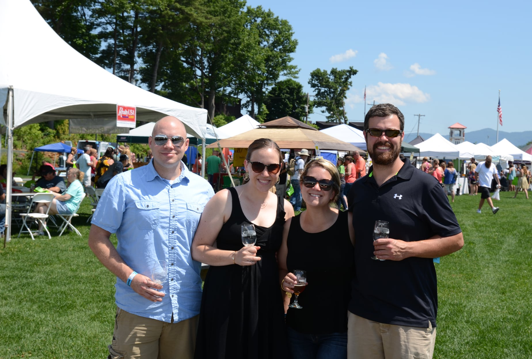 Friends enjoy themselves at the Adirondack Wine and Food Festival