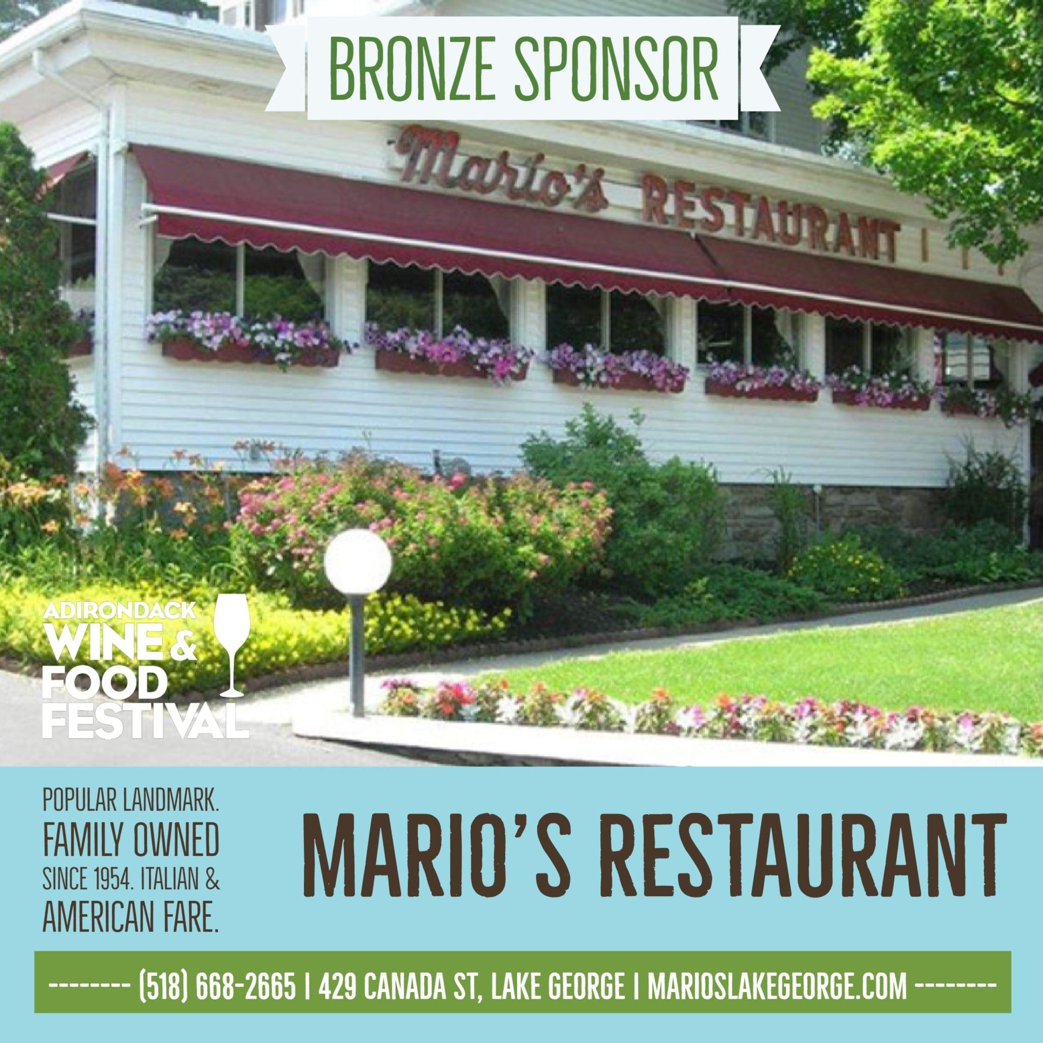 Marios Restaurant Lake George