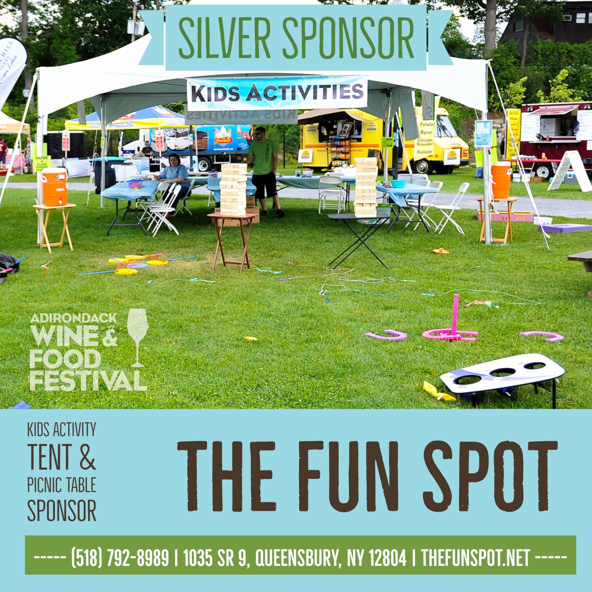 The Fun Spot Kids Activity Tent Sponsor