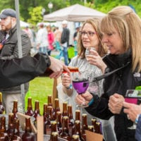 Attendees enjoy Cider samples at the 2018 Adirondack Wine and Food Festival