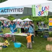 Kids Activity Tent at the Adirondack Wine and Food Festival