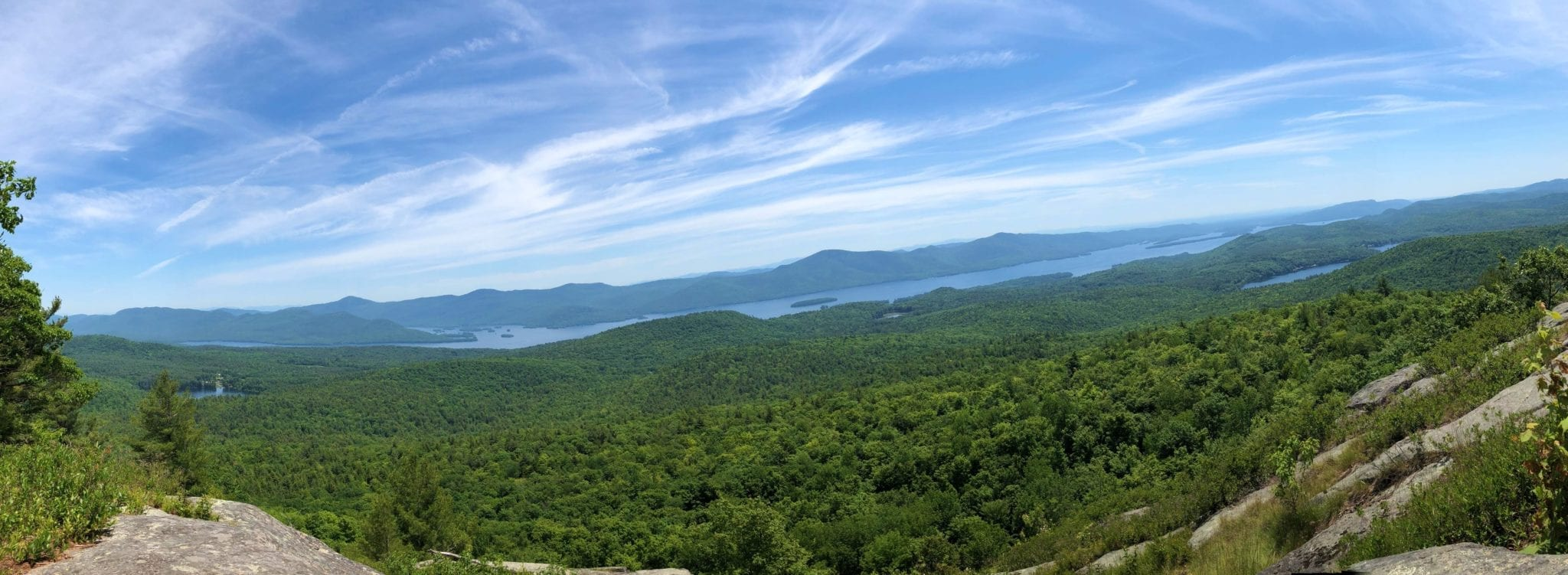View of Lake George from the top of Cat Mountain (almost 2,000 feet!)